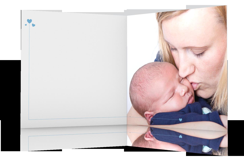 GeburtsGrußkarte Boy quadratisch Innenseiten