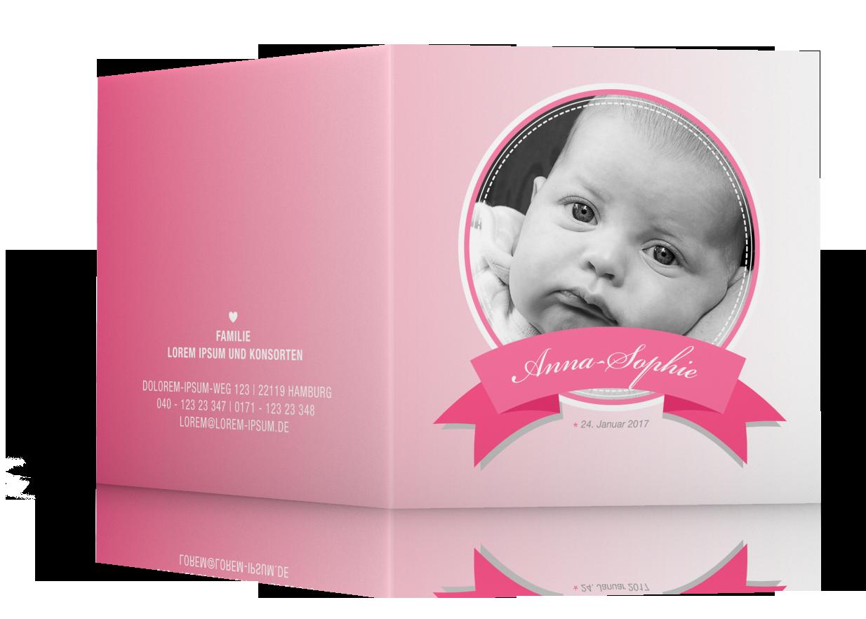 Geburtsgrußkarten Mädchen günstig